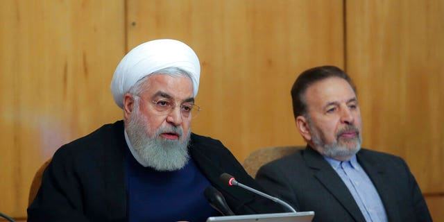 President Hassan Rouhani speaks in a cabinet meeting in Tehran, Iran, Wednesday, July 24, 2019.