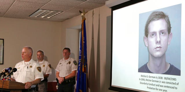 Chippewa County Sheriff James Kowalczyk addresses the media during a news conference on Tuesday in Wisconsin.