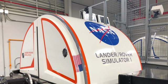 One of the two, 2-person Mars Lander/Rover simulators at Kennedy Space Center's astronaut training experience. (Photo by Dave Parfitt)
