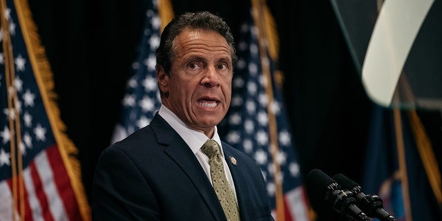 New York Governor Andrew Cuomo delivers a speech on July 18, 2019 in New York City. (Photo by Scott Heins/Getty Images)