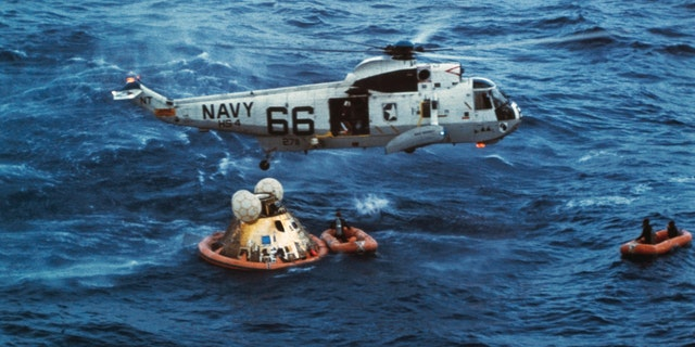 Westlake Legal Group Apollo11RecoveryGetty1969 Apollo 11: Former officer on recovery ship USS Hornet recalls watching astronauts' 'amazing' return with President Nixon James Rogers fox-news/us/personal-freedoms/proud-american fox-news/topic/apollo-11 fox-news/science/air-and-space/spaceflight fox-news/science/air-and-space/nasa fox-news/science/air-and-space/moon fox news fnc/science fnc article 76e66116-a386-51b6-9300-21945412f4db
