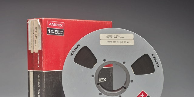 One of the original videotapes of the Apollo 11 Moon landing. (Sotheby's)