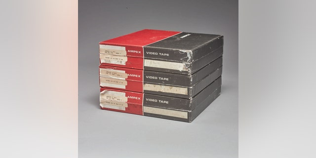 "The unrestored, unenhanced and unremastered tapes are described as ""the earliest, sharpest, and most accurate surviving video images of man's first steps on the moon,"" by auction house Sotheby's."
