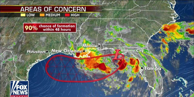 Barry is approaching to form into a pleasant charge by Thursday night.