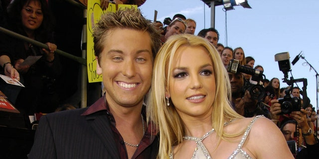 Lance Bass and Britney Spears.