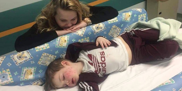 Baylie-Grey from Prestwich, Manchester, was rushed to the hospital after a red rash spread across his face and he became overly lethargic.