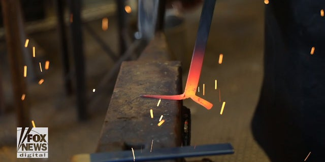 """""""The blacksmith is just a guide for the tools to move the metal,"""" Trattner explains."""