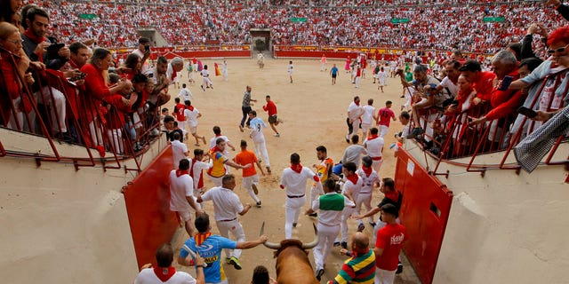 "The San Fermin fiesta made internationally famous by Ernest Hemingway in his novel ""The Sun Also Rises"" draws around 1 million partygoers each year."