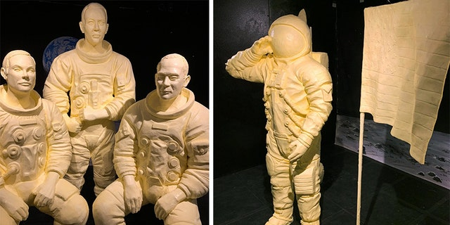 Westlake Legal Group Butter-Statues-2 At Ohio State Fair, butter brings Apollo 11's moonmen to life Vandana Rambaran fox-news/us/us-regions/midwest/ohio fox-news/us fox-news/topic/apollo-11 fox-news/science/air-and-space/spaceflight fox-news/science/air-and-space fox news fnc/us fnc article 455af159-e505-5bc7-901e-6c8154e1db4b