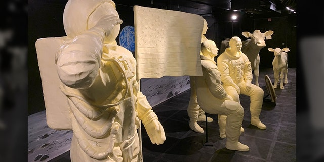 Westlake Legal Group Butter-Statues-3 At Ohio State Fair, butter brings Apollo 11's moonmen to life Vandana Rambaran fox-news/us/us-regions/midwest/ohio fox-news/us fox-news/topic/apollo-11 fox-news/science/air-and-space/spaceflight fox-news/science/air-and-space fox news fnc/us fnc article 455af159-e505-5bc7-901e-6c8154e1db4b