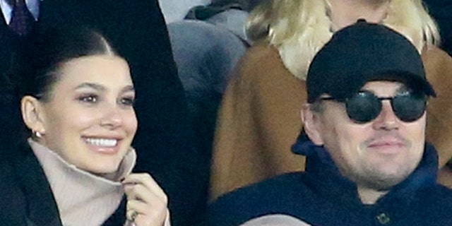 Leonardo DiCaprio and his girlfriend Camila Morrone, Mick Jagger, below DJ Snake, below Didier Deschamps and his wife Claude Deschamps, Guy Stephan, Alain Prost attend the UEFA Champions League Group C match between Paris Saint-Germain (PSG) and Liverpool FC at Parc des Princes stadium on November 28, 2018 in Paris, France.