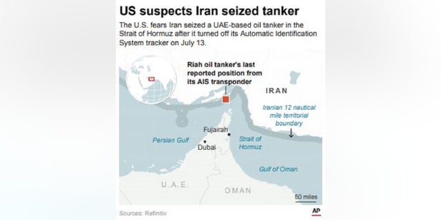 Westlake Legal Group Capture-5 US officials suspect Iran may have seized missing UAE-based oil tanker Louis Casiano fox-news/world/conflicts/iran fox-news/politics/foreign-policy/middle-east fox-news/politics/defense/conflicts fox news fnc/world fnc cf490014-e652-50d1-be16-b96025172ef8 article