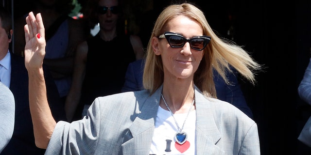 Celine Dion steps out in Heart of the Ocean necklace from Titanic