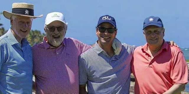 Former President Bill Clinton is spending time with friends in the Dominican Republic.
