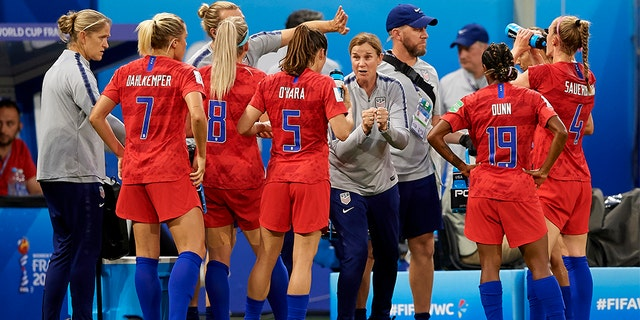 Coach Jill Ellis is stepping down after leading the United States to back-to-back Women's World Cup titles. (Photo by Jose Breton/NurPhoto via Getty Images)
