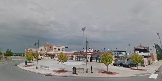The boy was hit by a stray bullet while on the field at Coca Cola Park in Allentown, Pa. on Saturday night.