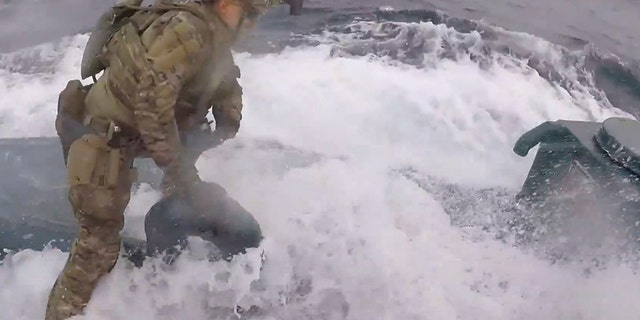 Intense video shows Coast Guard leap onto 'narco submarine' carrying cocaine