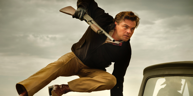 "This image released by Sony Pictures shows Leonardo DiCaprio in Quentin Tarantino's ""Once Upon a Time in Hollywood."""