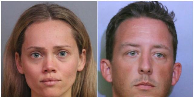 Courtney Irby, left, and Joseph Irby. (Polk County Sheriff's Office via AP)