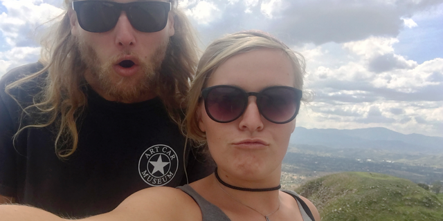 23-year-old Australian Lucas Fowler and 24-year-old American friend Chynna Deese pose for a selfie on this undated photo of the Deese family of Chynna Deese. The couple were found murdered on Monday, July 15, 2019, on the Alaska Highway near Liard Hot Springs, Canada.