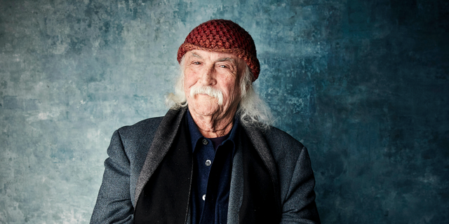 "David Crosby in a January 2019 photo promoting the film ""David Crosby: Remember My Name"" during the Sundance Film Festival in Park City, Utah. (Photo by Taylor Jewell/Invision/AP, File)"