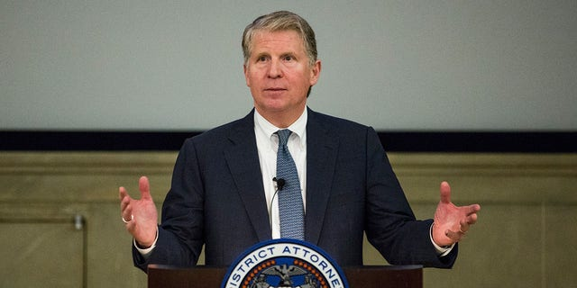 Manhattan District Attorney Cyrus Vance, Jr. speaks at global cyber security symposium at the Federal Reserve Bank of New York on November 18, 2015 in New York City. (Photo by Andrew Burton/Getty Images)