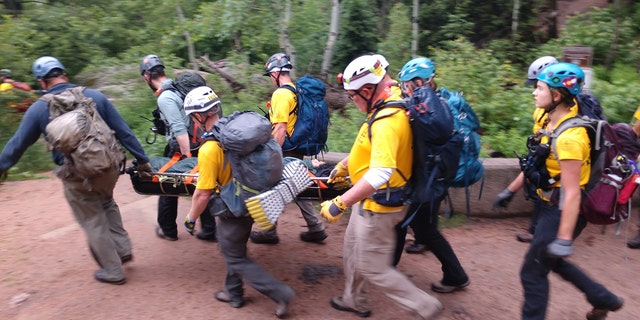 A group of hikers were injured in a lightning strike in Colorado on Sunday.