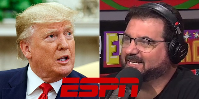 ESPN's Dan Le Batard missed his radio show twice this week after violating a company by offering his political views but will remain with the network.