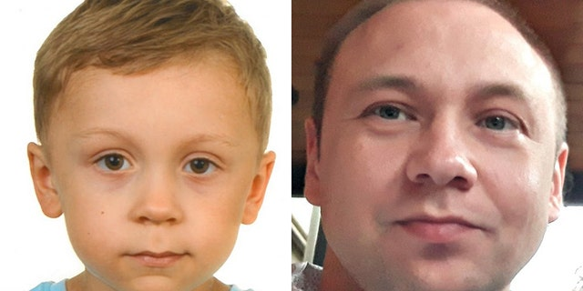 Authorities have been searching for Dawid Zukowski, left, for six days. His father was last seen driving on a highway on July 10 before he was killed by a train later that day.