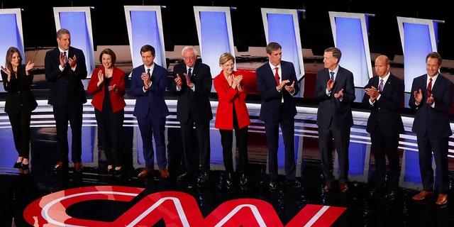 Critics mocked CNN's over-the-top Democratic debate coverage. (AP Photo/Paul Sancya)