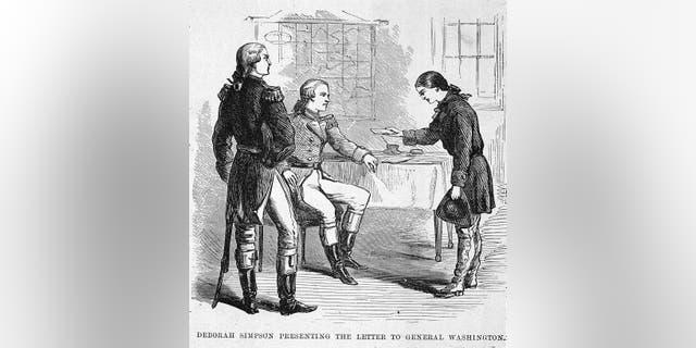 Khoảng năm 1775: Người lính Mỹ Deborah Sampson (1760 - 1827) gửi thư cho George Washington.