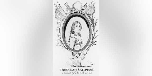 Một bản khắc của Deborah Sampson, khoảng năm 1797.