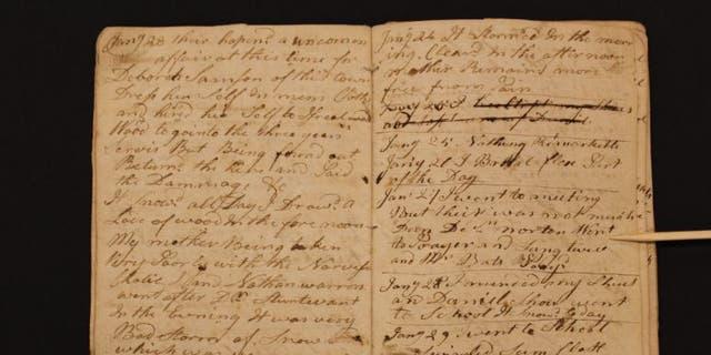Nhật ký của Abner Weston (Bảo tàng Cách mạng Hoa Kỳ)