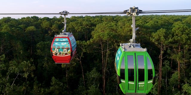 Disney Skyliner opened at the Disney World Resort in Lake Buena Vista, Fla., on Sept. 29, 2019. An Oct. 5 malfunction prompted the ride to close temporarily.