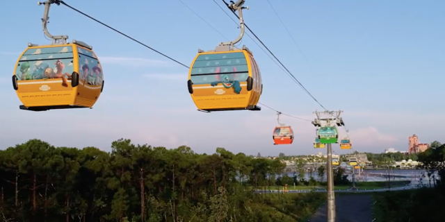 The gondolas will also be decorated with popular Disney characters from films, cartoons and rides.