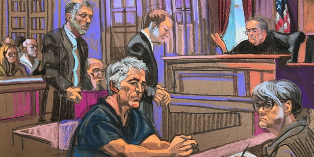 Jeffrey Epstein in court Monday in New York City.