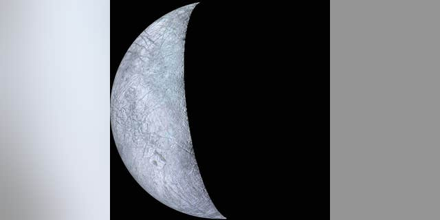 Voyager 2 snapped this image of Jupiter's moon Europa during the spacecraft's 1979 flyby. (Credit: NASA)