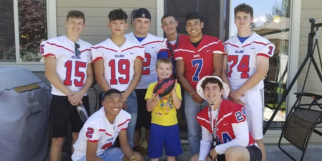 Westlake Legal Group Football-team-Kid-1 Idaho high school football team attends autistic boy's birthday party after only one classmate accepts invitation Talia Kaplan fox-news/us/us-regions/west/idaho fox-news/us fox-news/newsedge/sports fox-news/health/healthy-living/childrens-health fox-news/good-news fox news fnc/health fnc article 4c125bb4-5f9f-5f14-bed6-9065f0a2e26b