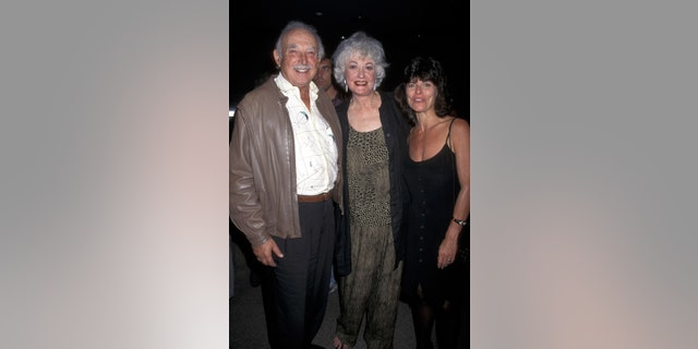 "Bill Macy, Bea Arthur and Adrienne Barbeau at the opening night of ""Bermuda Avenue Triangle"" in West Hollywood, Calif. (Photo by Ron Galella/WireImage)"