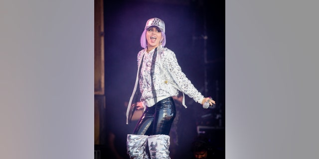 Miley Cyrus performs on the Pyramid Stage during day five of Glastonbury Festival at Worthy Farm, Pilton on June 30, 2019 in Glastonbury, England.