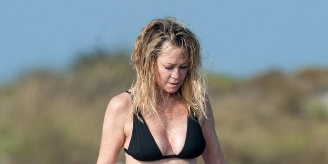 Melanie Griffith seen in Ibiza, Spain.