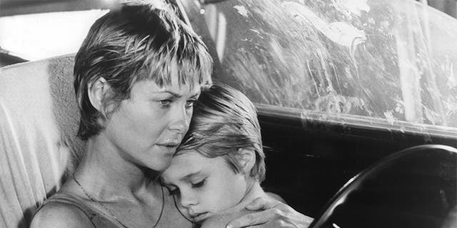 "Dee Wallace holds her son Danny Pintauro in a scene from the film ""Cujo,"" 1983. (Photo by Warner Brothers/Getty Images)"
