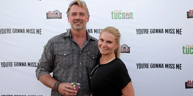 John Schneider and Alicia Allain attend