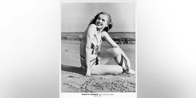 Actress Marilyn Monroe poses for a portrait in a bathing suit circa 1948. (Photo by Michael Ochs Archives/Getty Images)