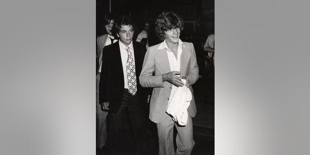 John F. Kennedy Jr. and Anthony Radziwill at the Rainbow Room in New York City. (Photo by Ron Galella/WireImage)