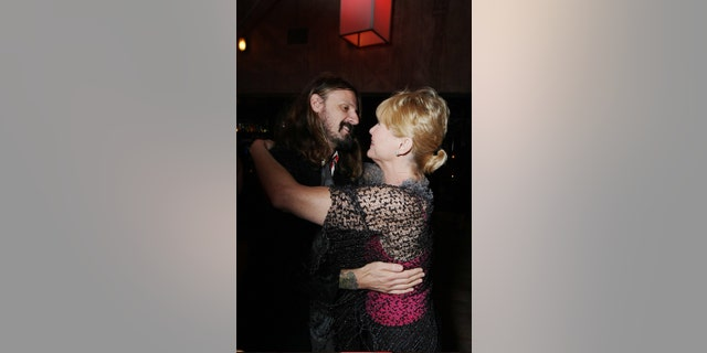 "Writer/director Rob Zombie and Dee Wallace at the world premiere after party of ""Halloween"" at the Geisha House on Aug. 23, 2007 in Hollywood, California. (Photo by Eric Charbonneau/Wireimage)"