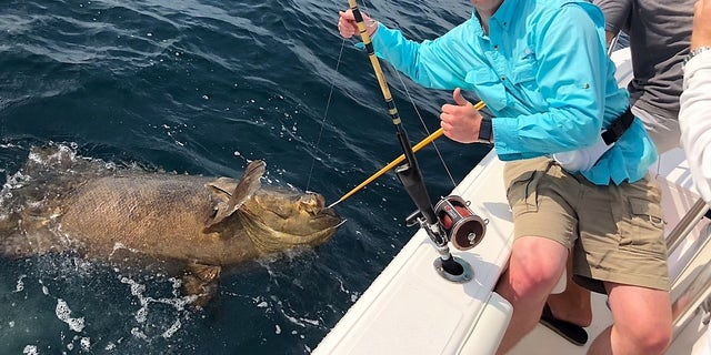 Hunter Waneck, Becca Peisker and Charlie Reagin were on a chartered trip with Silver King Charters of Destin when they reeled in the impressive catch.