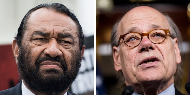Rep. Al Green, left, and representative Steve Cohen, has promised to continue insisting on an impeachment procedure against President Trump.