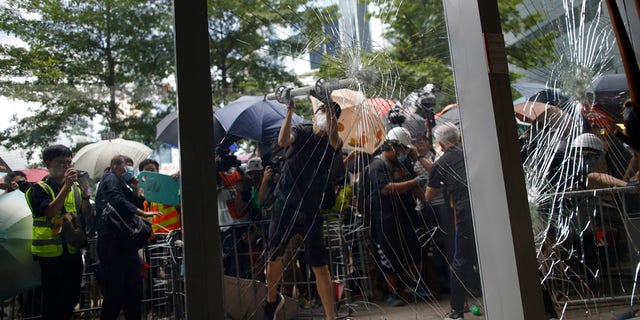 Westlake Legal Group HKJuly1 Hong Kong demonstrators smash government building amid protests on anniversary of return of Chinese rule Travis Fedschun fox-news/world/world-regions/china fox-news/world/world-regions/asia fox-news/world/conflicts fox news fnc/world fnc article 135a125b-47dc-5984-a5a7-ceeeed5ab3a9