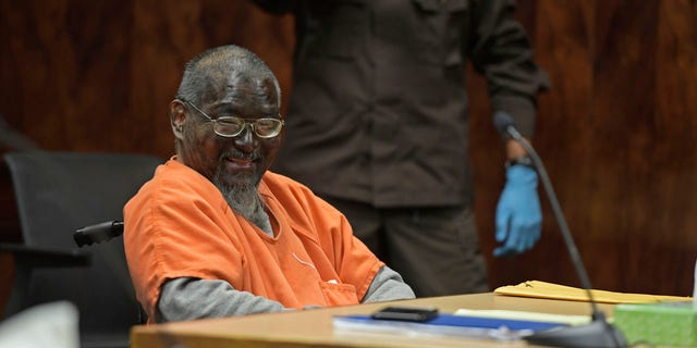 In this Monday, July 1, 2019, photo, Mark Char appears in court, in Honolulu, with his face painted black.